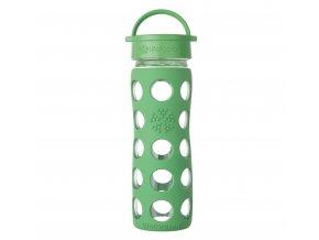 Lifefactory skleněná láhev s klasickým uzávěrem 475ml grass green