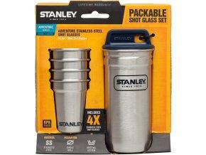 Stanley - Set 4 ks panáků v pouzdře nerez