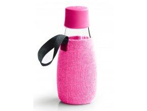 Retap obal na láhev 0,3l růžový úplet