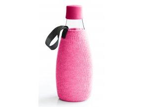 Retap obal na láhev 0,8l růžový úplet