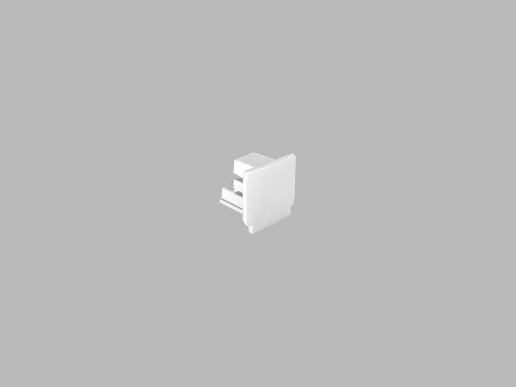 48379 led2 pro track pro 0432 w end cap white