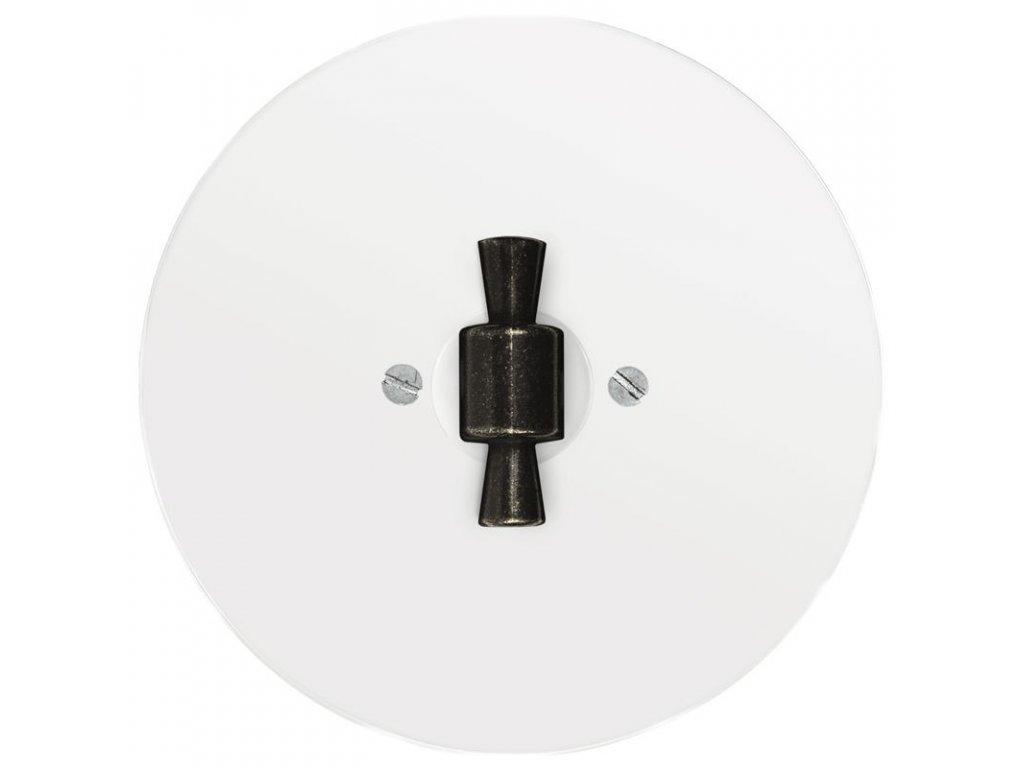 Rámeček jednonásobný RETRO SKLO (Varianta Rám: sklo - černá, Ovladač: BTA černá)