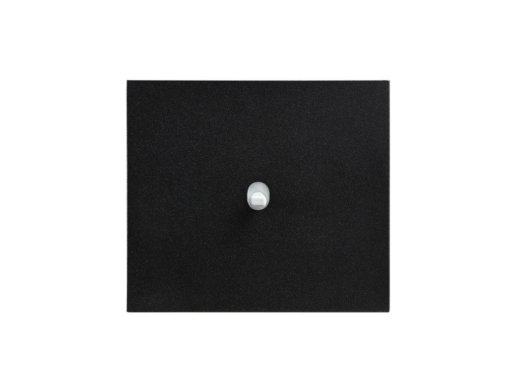 Hliníkový páčkový vypínač VECTIS OBZOR - černý (Schéma zapojení Ovladač zapínací dvojitý 1/0+1/0, tlačítko, Varianta Rám: HLINÍK černý, Ovladač: páčka černá)