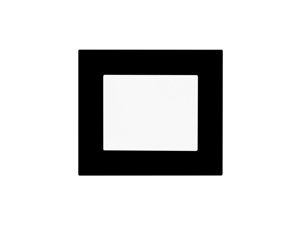 Minimalistický vypínač Obzor DECENTE - PLEXI (Schéma zapojení Tlačítko s nulovou svorkou 1/0N, Varianty Rám: Plexi bílá, Kryt: bílý lesk)
