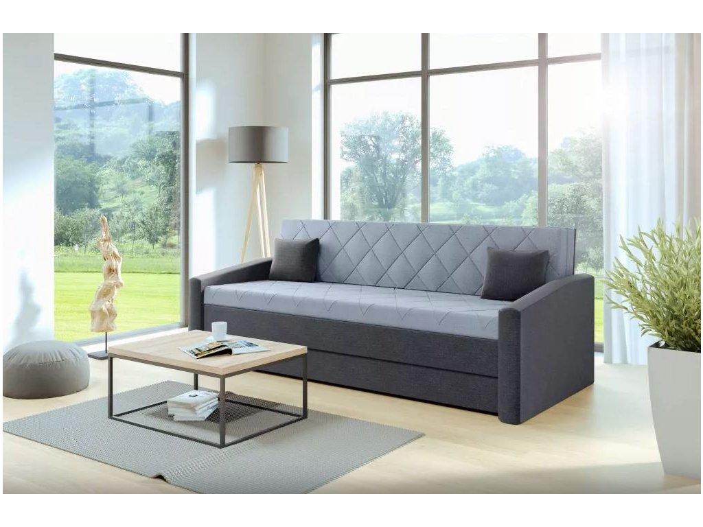 Rozkládací pohovka pro každodenní spaní Vision šedá 160x200 cm nábytek blanář 1
