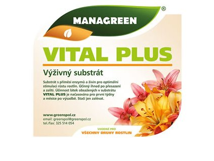 substrát Managreen VITAL PLUS (Velikost 5 L)