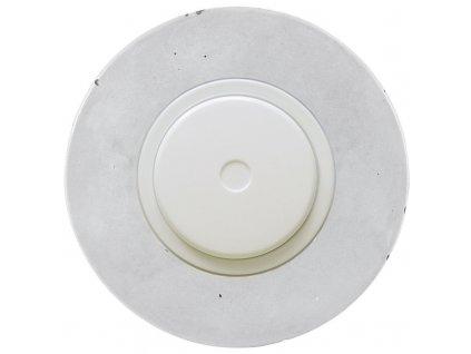 LED stmívač otočný push-pull, kompletní, RETRO BETON (Varianta Rám: beton, Kryt: černý, Ovladač: stmívač - bílý)