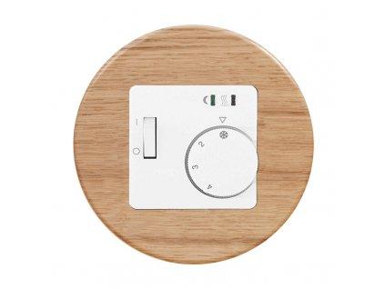 Termostat FRE L2A-50 analogový, kompletní, RETRO DŘEVO (Varianta Rám: dřevo buk, Varianta: analogový, podlahový, pod omítku, včetně čidla)