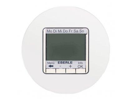 Termostat FIT 3U digitální, kompletní, RETRO SKLO (Varianta Rám: sklo - bílá, Varianta: digitální, kombinovaný, pod omítku, bez čidla)