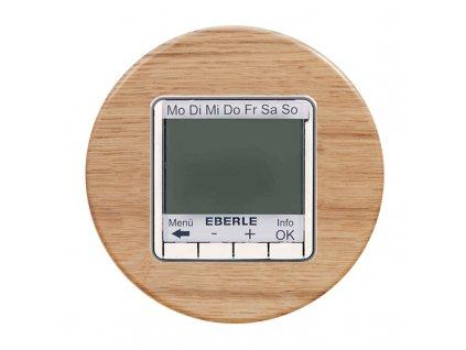 Termostat FIT 3U digitální, kompletní, RETRO DŘEVO (Varianta Rám: dřevo buk, Varianta: digitální, kombinovaný, pod omítku, bez čidla)