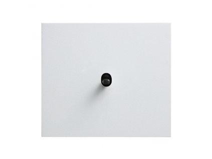 Hliníkový páčkový vypínač VECTIS OBZOR - bílý (Schéma zapojení Ovladač zapínací dvojitý 1/0+1/0, tlačítko, Varianta Rám: HLINÍK bílý, Ovladač: páčka černá)