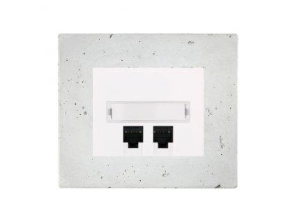 Zásuvka komunikační  DECENTE BETON (Typ Zásuvka komunikační USB nabíječka dvojitá)