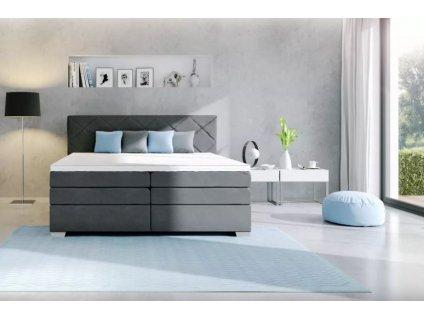 čalouněná postel boxspring s úložným prostorem Atiika 180 nábytek blanář