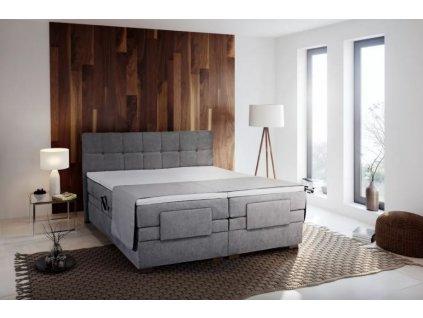 Manželská čalouněná postel typu Boxspring Samara s úložným prostorem 180x200 nábytek blanář