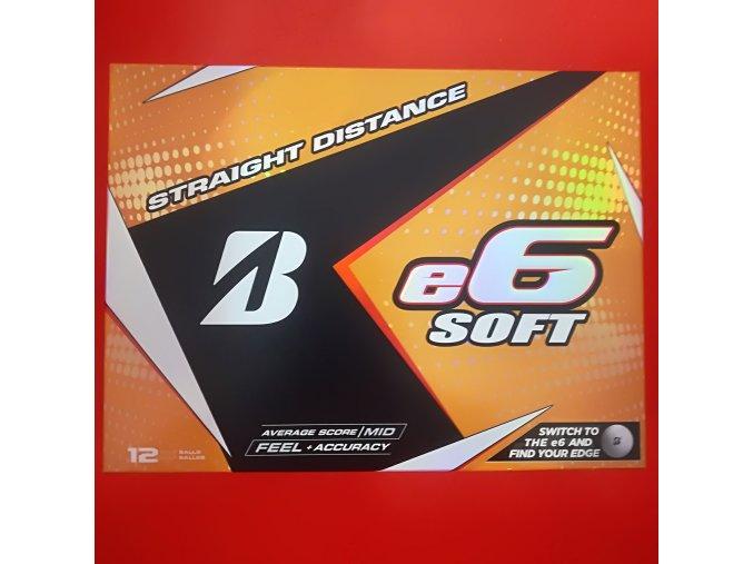 Golfové míčky Bridgestone E6 soft 2018 3ks NOVÉ