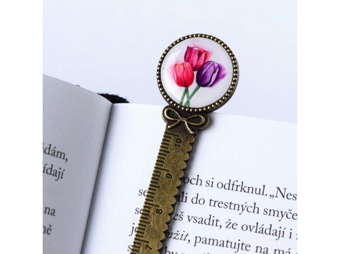 záložka s tulipány