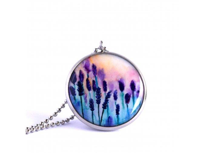 Levandulový náhrdelník