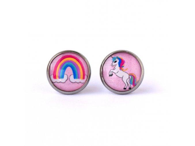 unicorn náušnice
