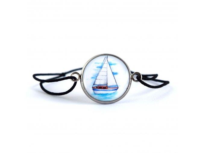 náramek s plachetnicí
