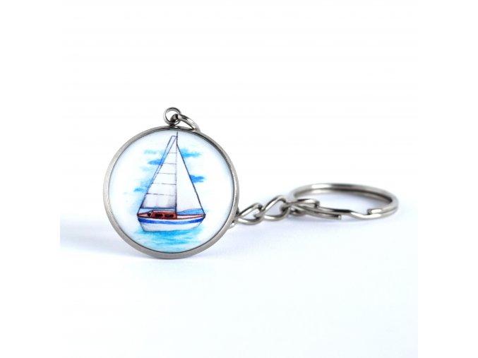 plachetnice klíčenka