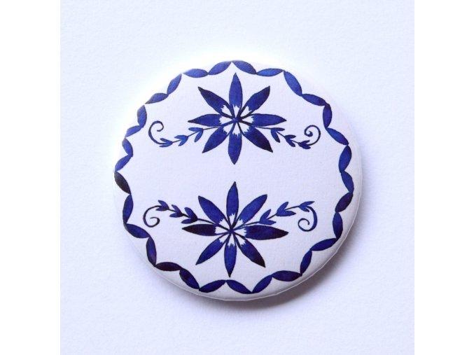 Cibulák placka, motiv porcelán