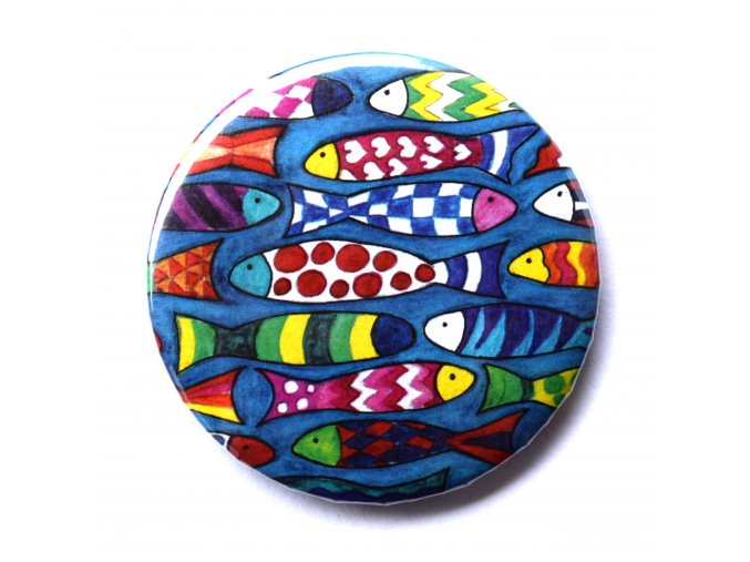 barevné ryby placka