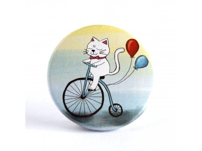 Kočka na kole zrcátko