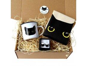 dárková krabice s kočkou