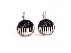 klavír náušnice