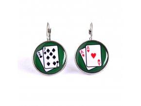 pokerové náušnice