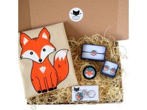 dárkový balíček s liškou