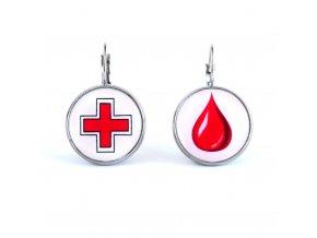 dárce krve náušnice