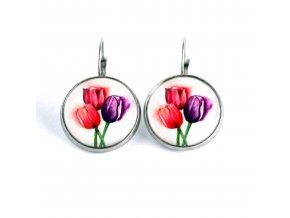 tulipány náušnnice