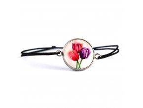 náramek s tulipány