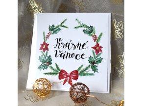 Vánoční věnec přání