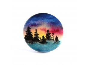 lesní úsvit zrcátko