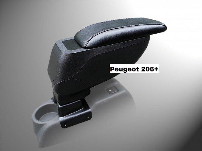Lakťová opierka Peugeot 206+ (Farba Čierna farba, Materiál Poťah opierky eko-koža)