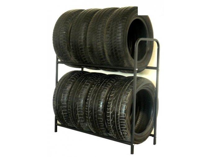 Regál na 8 pneumatík