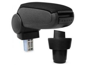 Lakťová opierka Seat MII (Farba Čierna farba, Materiál Textilný poťah opierky)