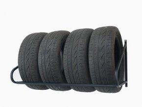 Nástenný  držiak na 4 pneumatiky