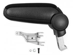 Lakťová opierka AUDI A4 (B6, B7) kovový adaptér (Farba Čierna farba, Materiál Textilný poťah opierky)