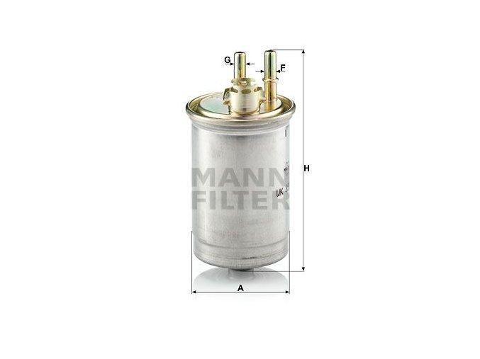 Palivový filtr Mann WK853/7