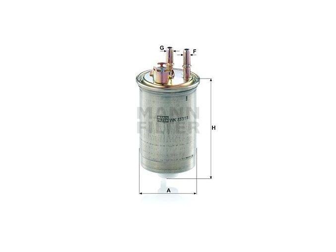 Palivový filtr Mann WK853/18