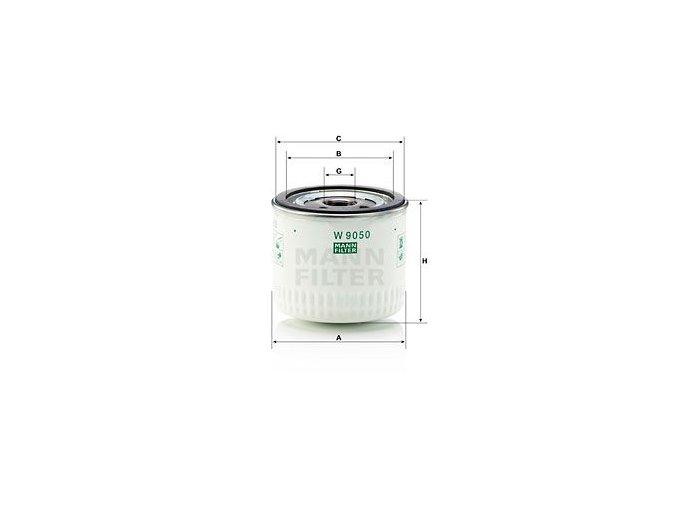 Olejový filtr Mann W9050