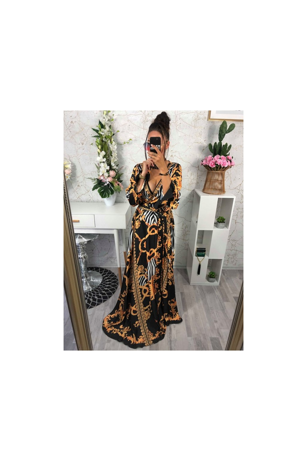Luxusní maxi letní šaty