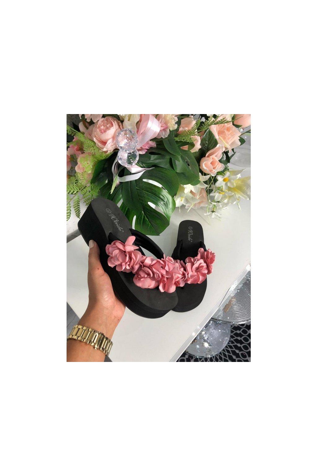 Růžové žabky flower