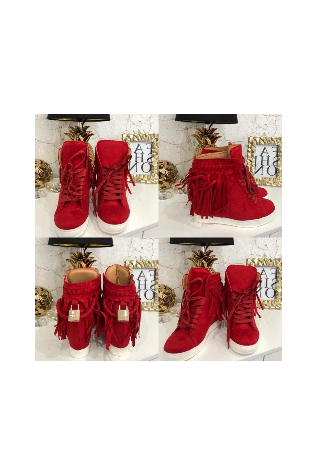 Červené sneakersky