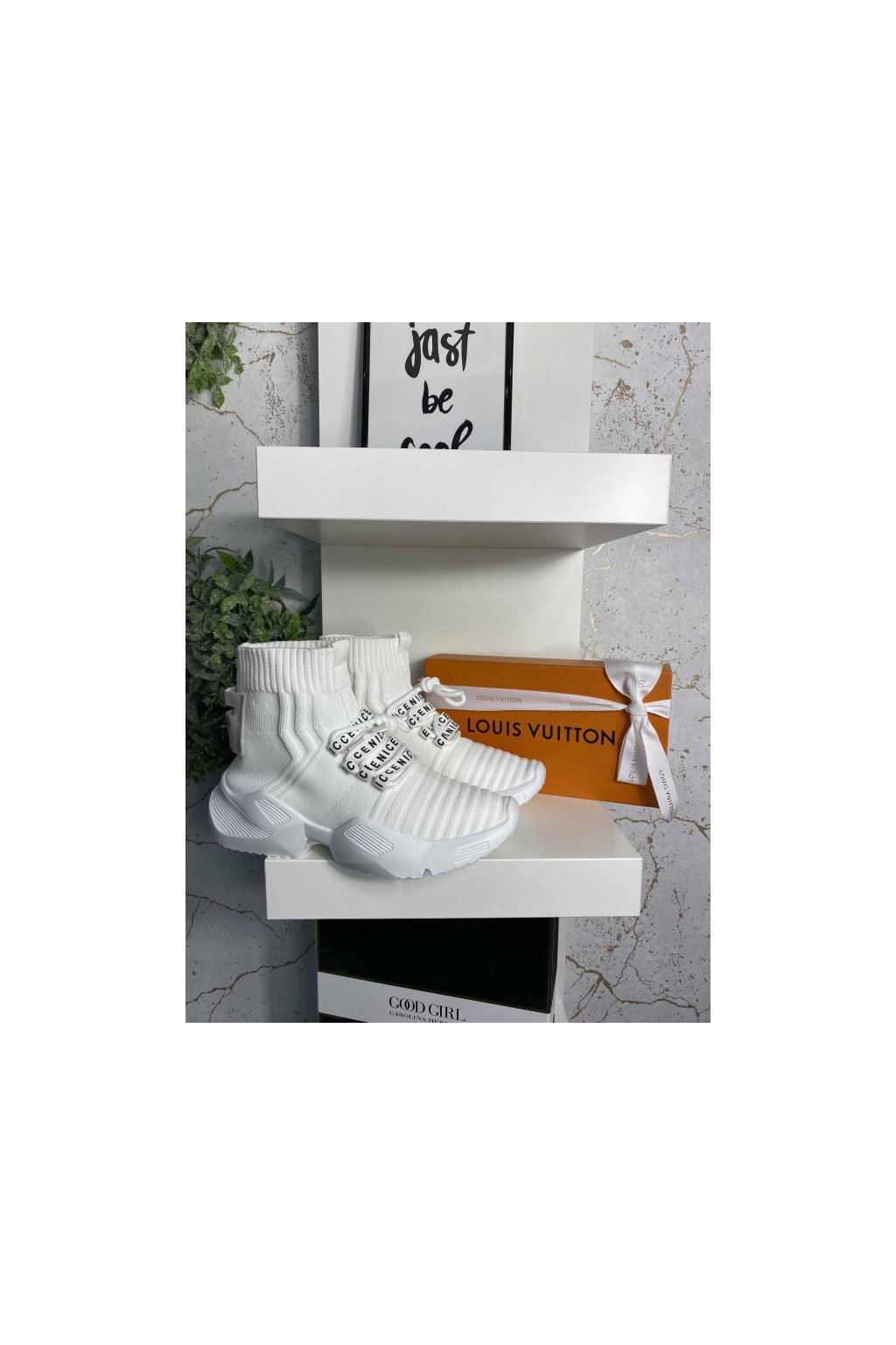 Stylové bílé tenisky NICE FASHION