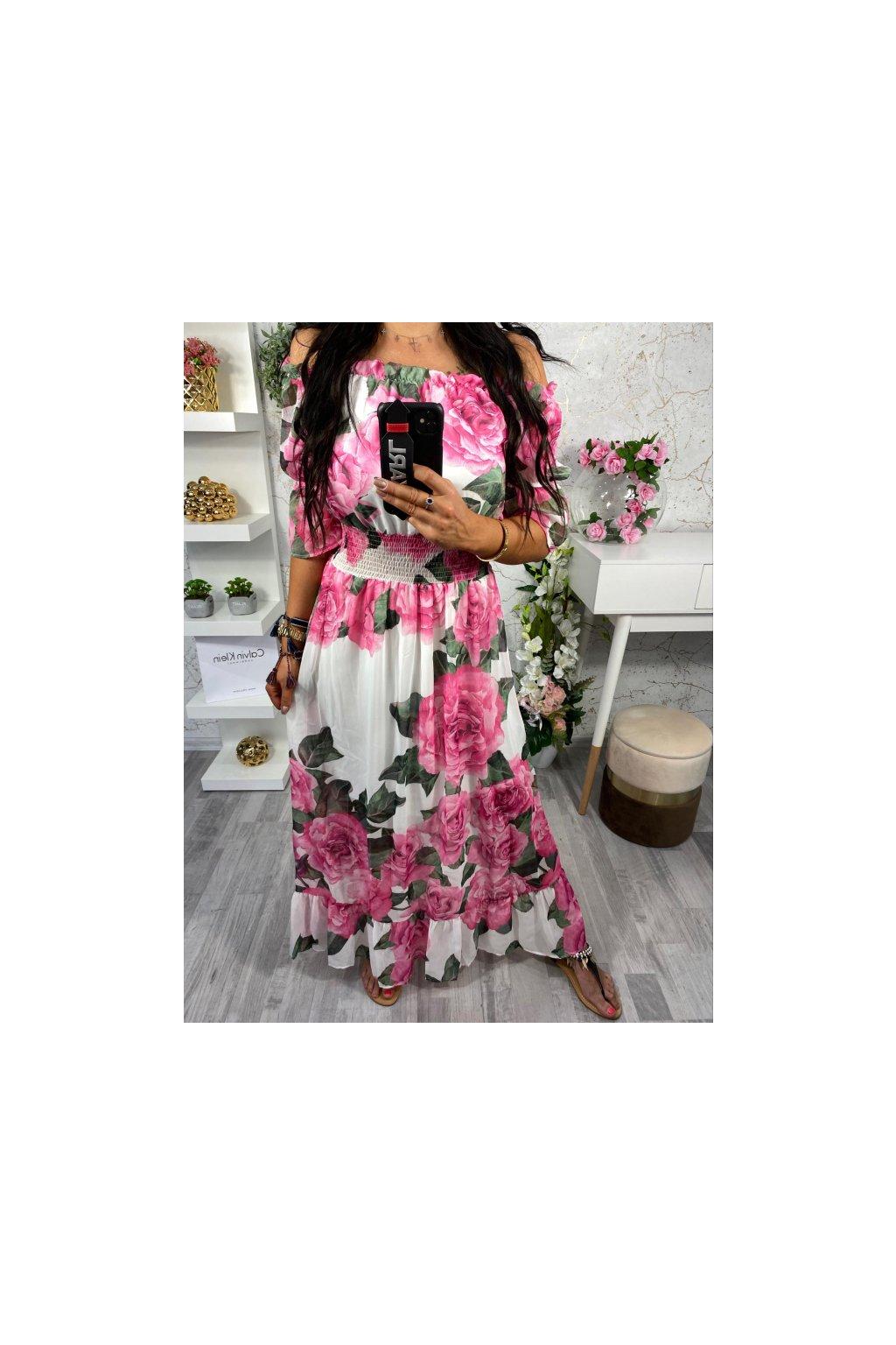 Maxi šaty - Pink Rose