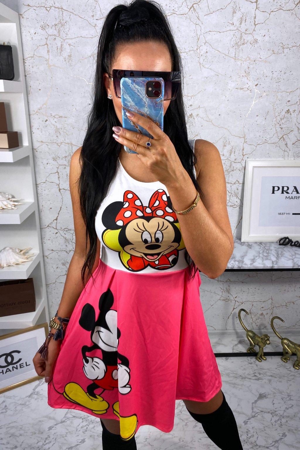 TOP šaty Disney - Růžové